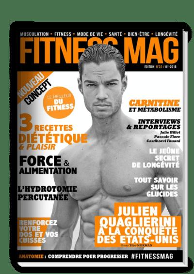 En couverture de Fitness Mag