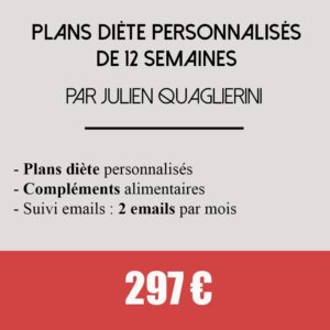 coaching plans diete 12 semaines