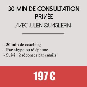 30 min consultation privée coaching