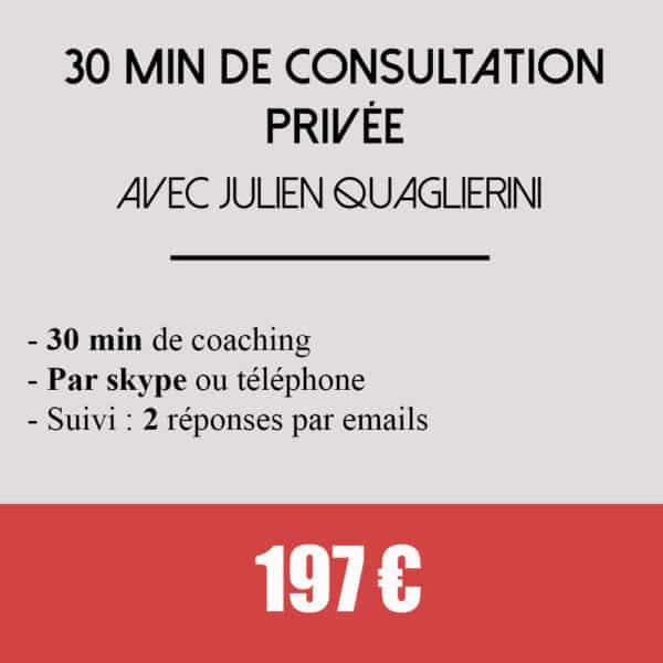 30 min consultation privée coaching