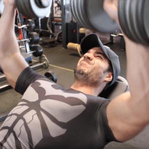 DÉVELOPPÉS INCLINÉS AUX HALTÈRES muscles stabilisateurs