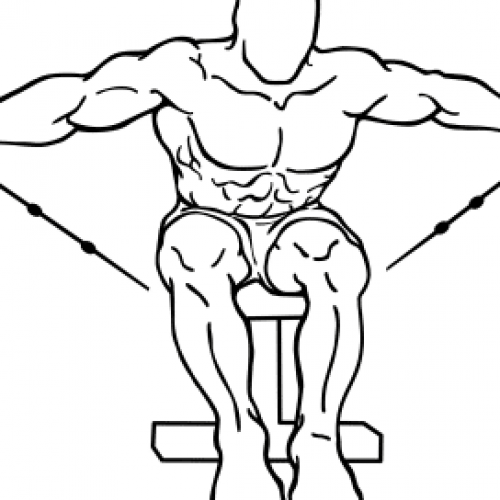 Elévations latérales aux poulies assis