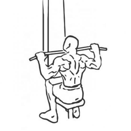 Tirage poulie haute devant ou Tirage poitrine