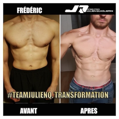 FREDERIC MUSCULATION AVANT APRES