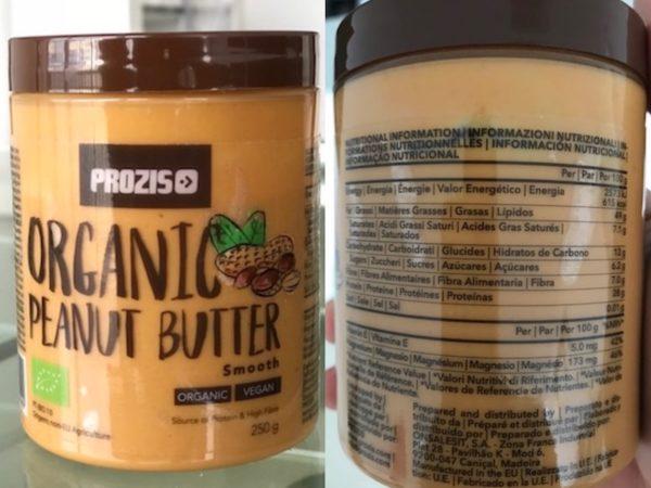 composition beurre de cacahuète