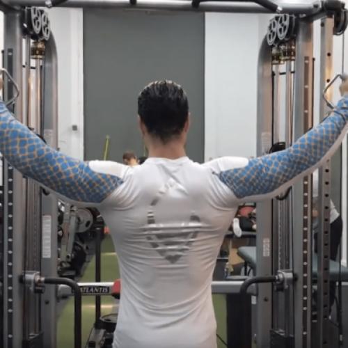 Elévations latérales aux poulies épaules diverses positions