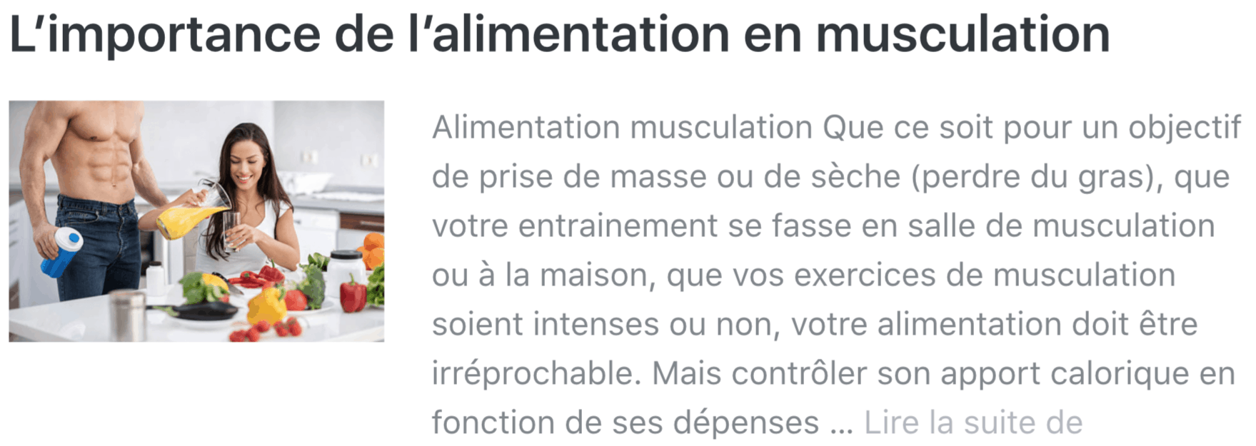 alimentation musculation