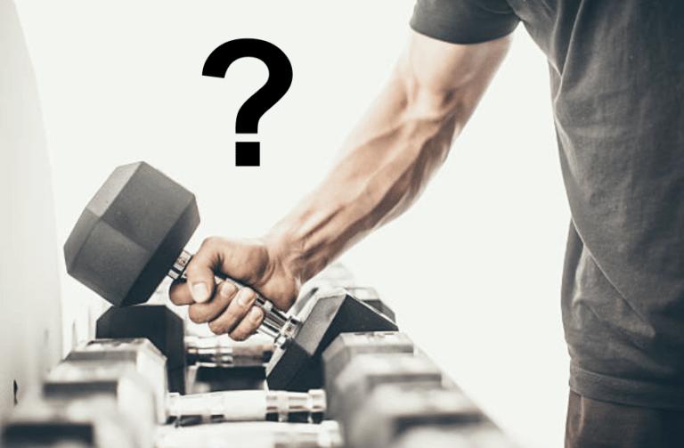 Comment choisir ses poids pour se muscler correctement ?